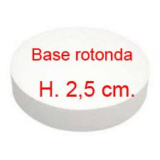 BASE ROTONDA ALTEZZA 2,5 cm.